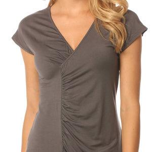 MAJAMAS EARTH maternity nursing grey shirt / top